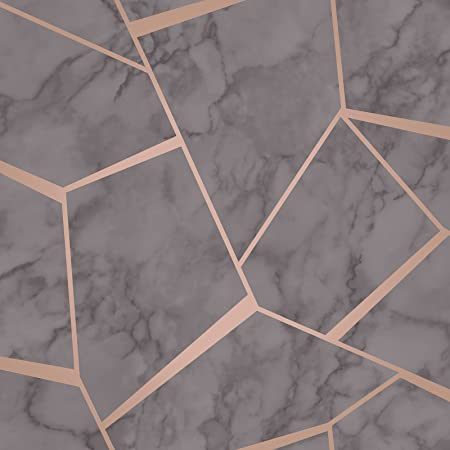 Fine Décor Fd42283 Quartz Fractal Wallpaper Copper