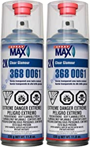 USC Spray Max 2k High Gloss Clearcoat Aerosol (2 PACK)