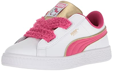 pretty nice a0e5f 3ab2b Amazon.com   PUMA Kids' Minions Basket Heart Fluffy Ps ...