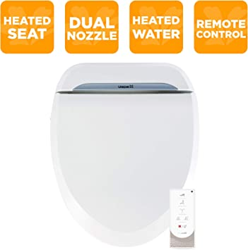 Biobidet Uspa 6800u Adjustable Bidet Toilet Seat With Wireless Remote Dual Nozzle User Presets And Dryer White Elongated Amazon Com