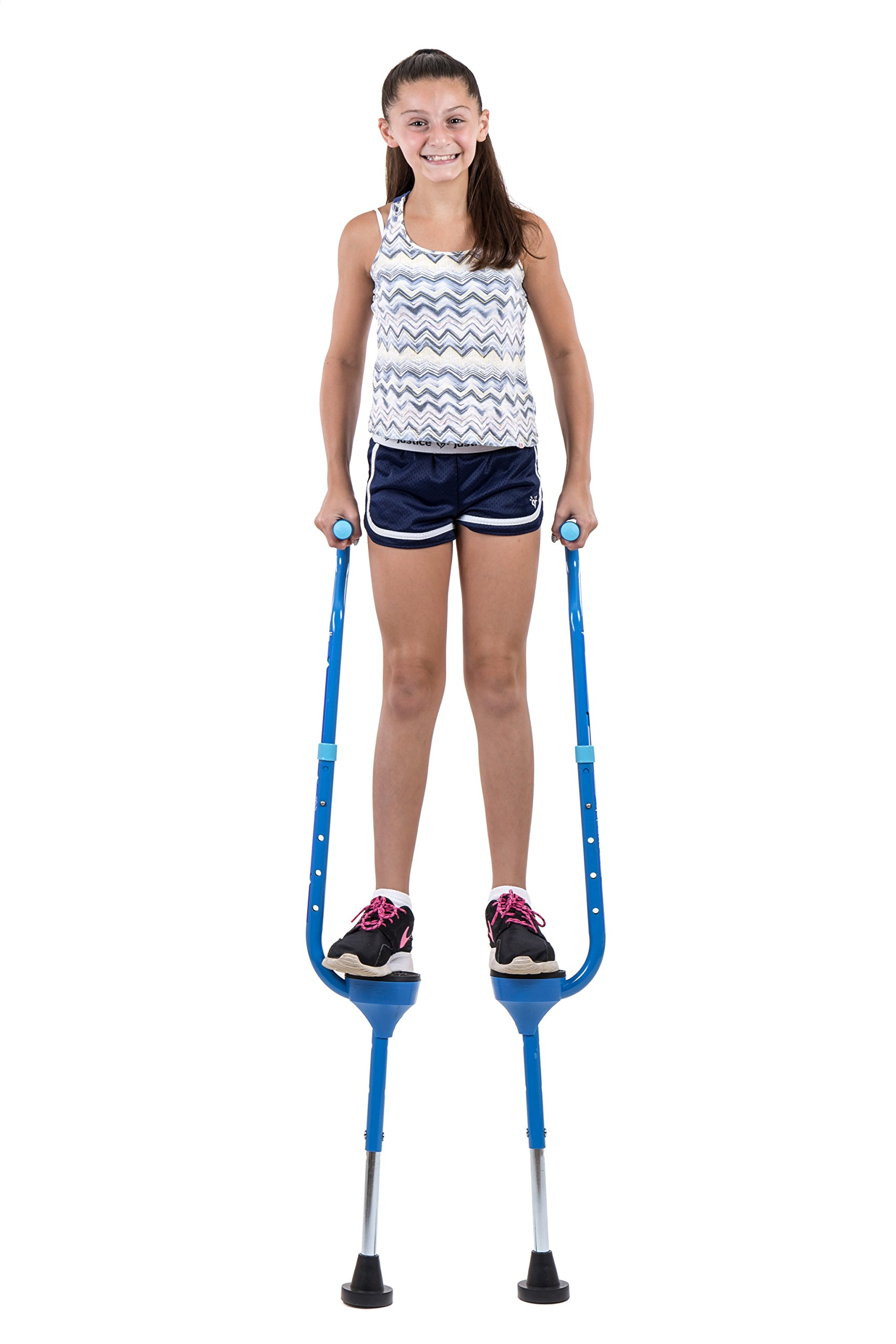 Flybar Maverick Walking Stilts for Kids Ages 5 +, Weights Up to 190 Lbs - Adjustable Foam Handles with Wide Stance Foot Pegs - Fun Outdoor Toys for Girls & Boys by Flybar