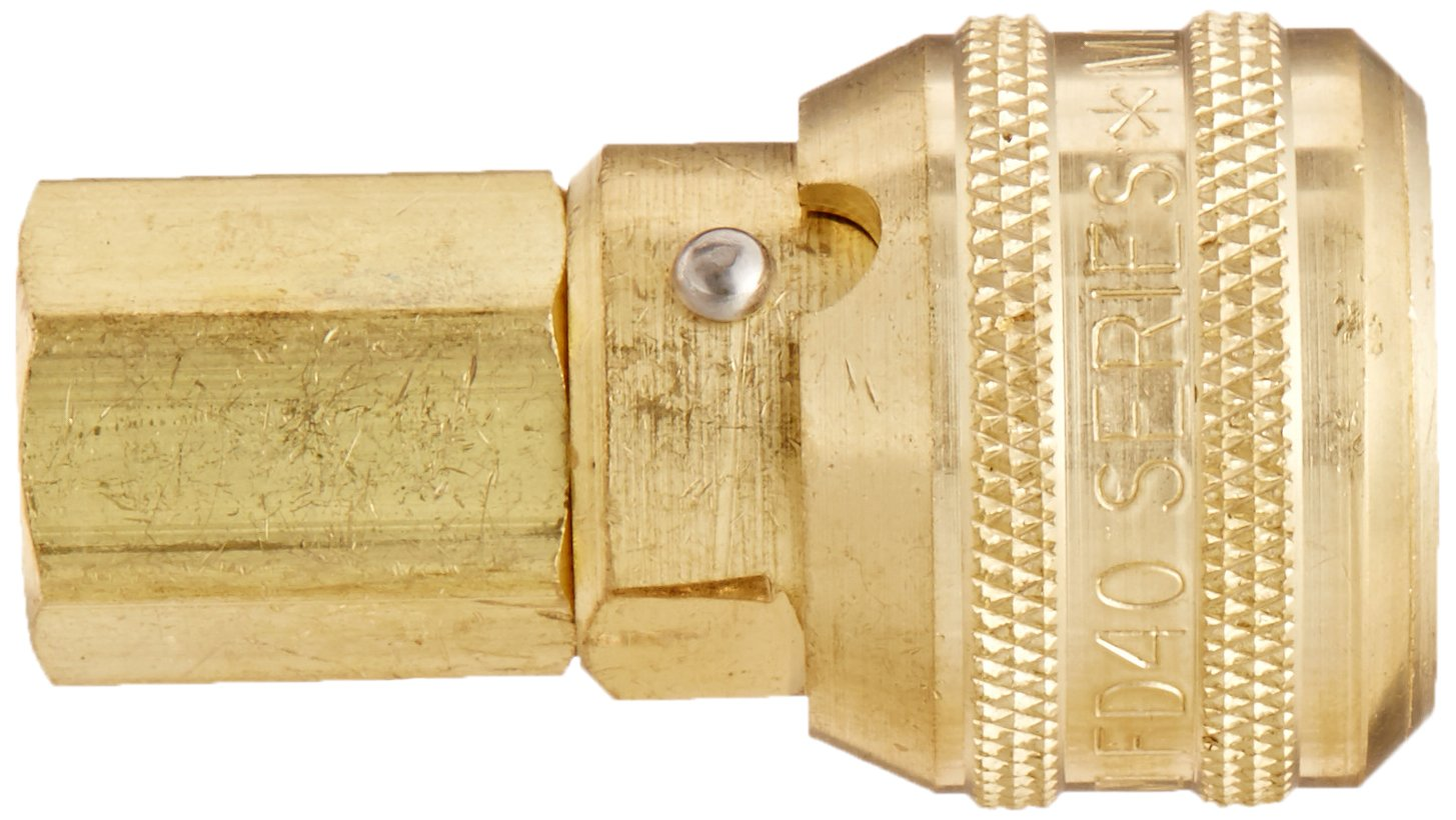 Sleeve Lock Socket 3//4 Hose ID Eaton Hansen 5900SL Brass ISO-B Interchange Pin Lock Pneumatic Fitting 1//2 Body