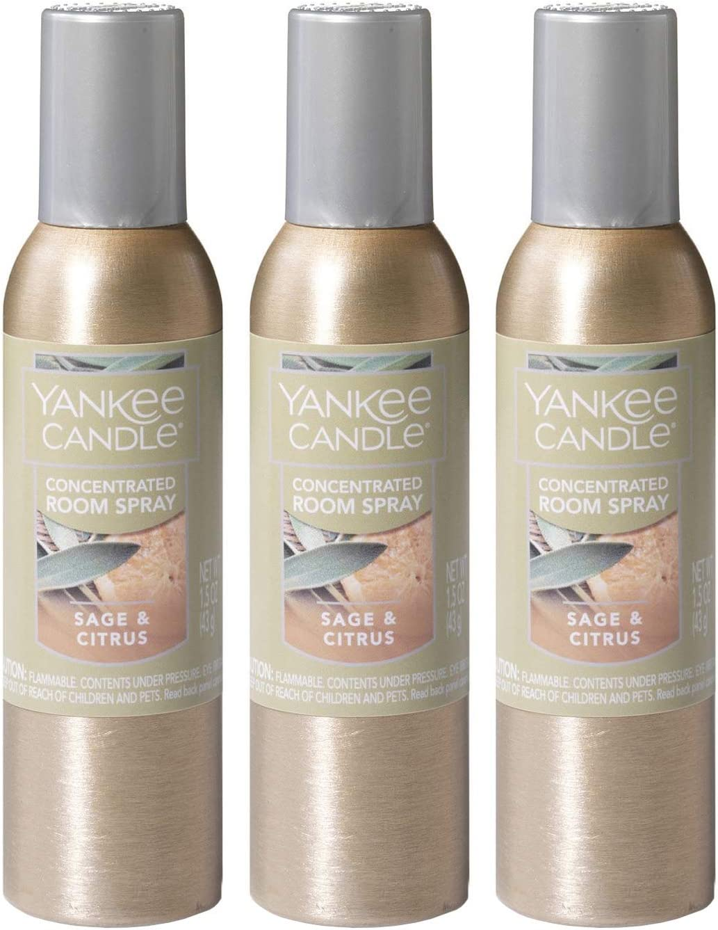 Yankee Candle Concentrated Room Spray 3-PACK (Sage & Citrus)