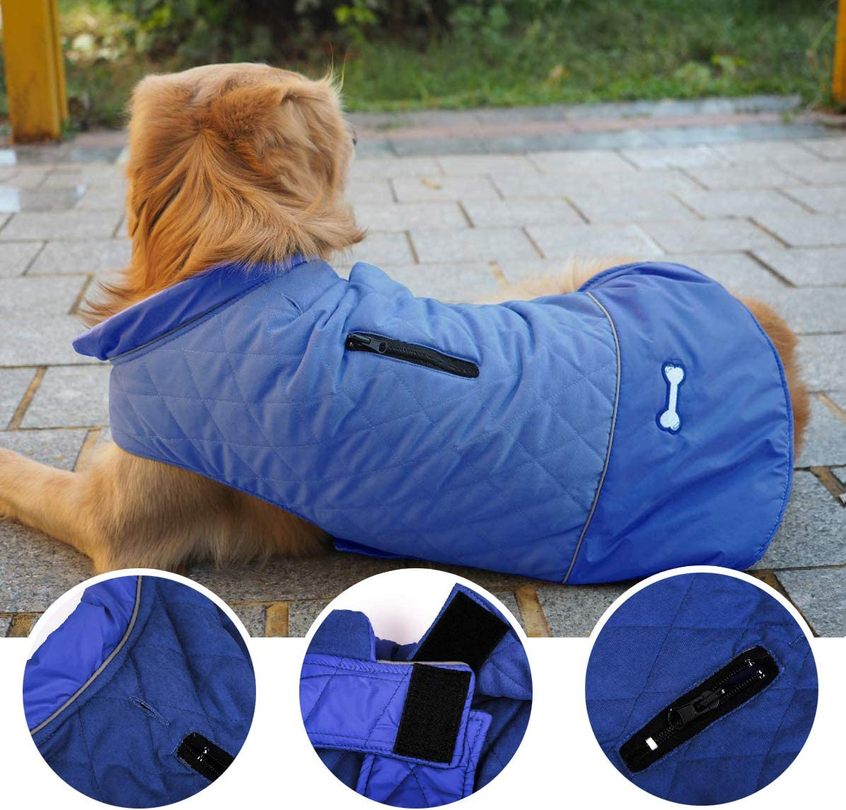 Withu Pet Dog Coat Cozy Windproof Cold Winter Reversible Warm Vest Jacket Outfits Apparels for Small Puppy Medium Large Dogs Red M