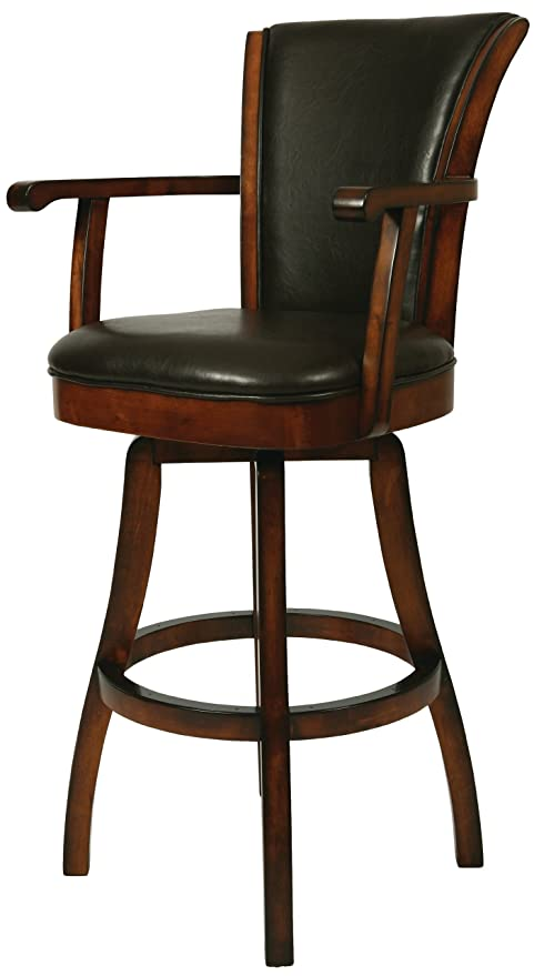 Pleasant Impacterra Qlgl217249867 Glenwood Swivel Stool With Arms 30 Bar Height Russet Cordovan Leather Brown Pdpeps Interior Chair Design Pdpepsorg