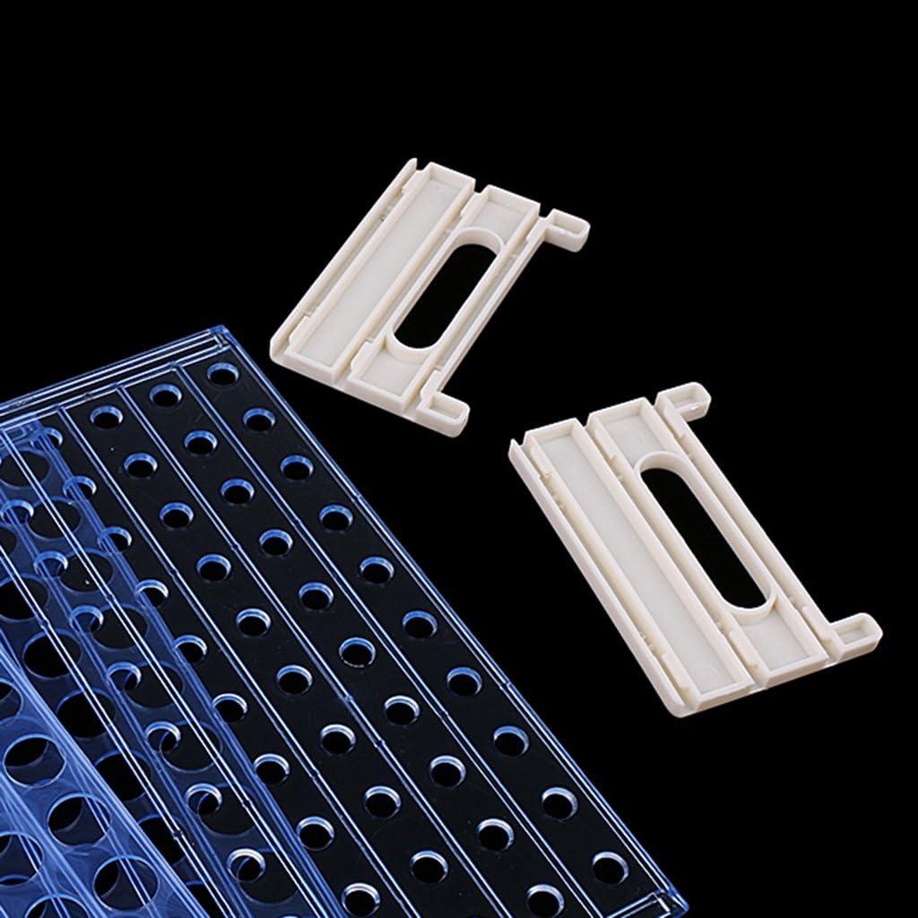 50 Bel/üftungs/öffnungen 3 Schichten Labor Reagenzglas Gazechimp Kunststoff 16mm