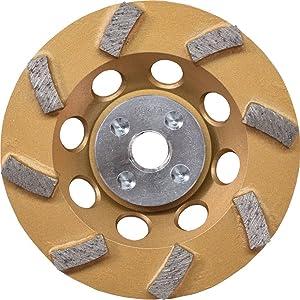 "Makita A-96403 Anti-Vibration Diamond Cup Wheel, 8 Segment Turbo, 4-1/2"""