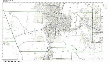 Amazon Com Bernalillo County New Mexico Nm Zip Code Map Not