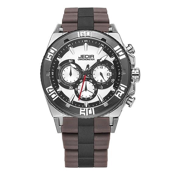 GuTe Fashion deportes cronómetro reloj de pulsera de cuarzo correa ...