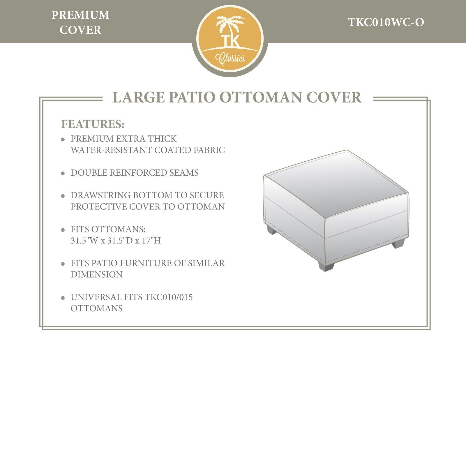 OKSLO Premier/hampton/aruba ottoman outdoor protective cover