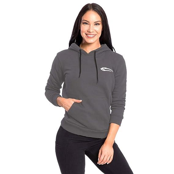 SMILODOX Damen Hoodie  Obscurity   Hoodie für Sport Fitness   Freizeit    Sportpullover - Sweatshirt Pulli - Pullover mit Kapuze - Langarm    Kängerutaschen  ... f867a56247