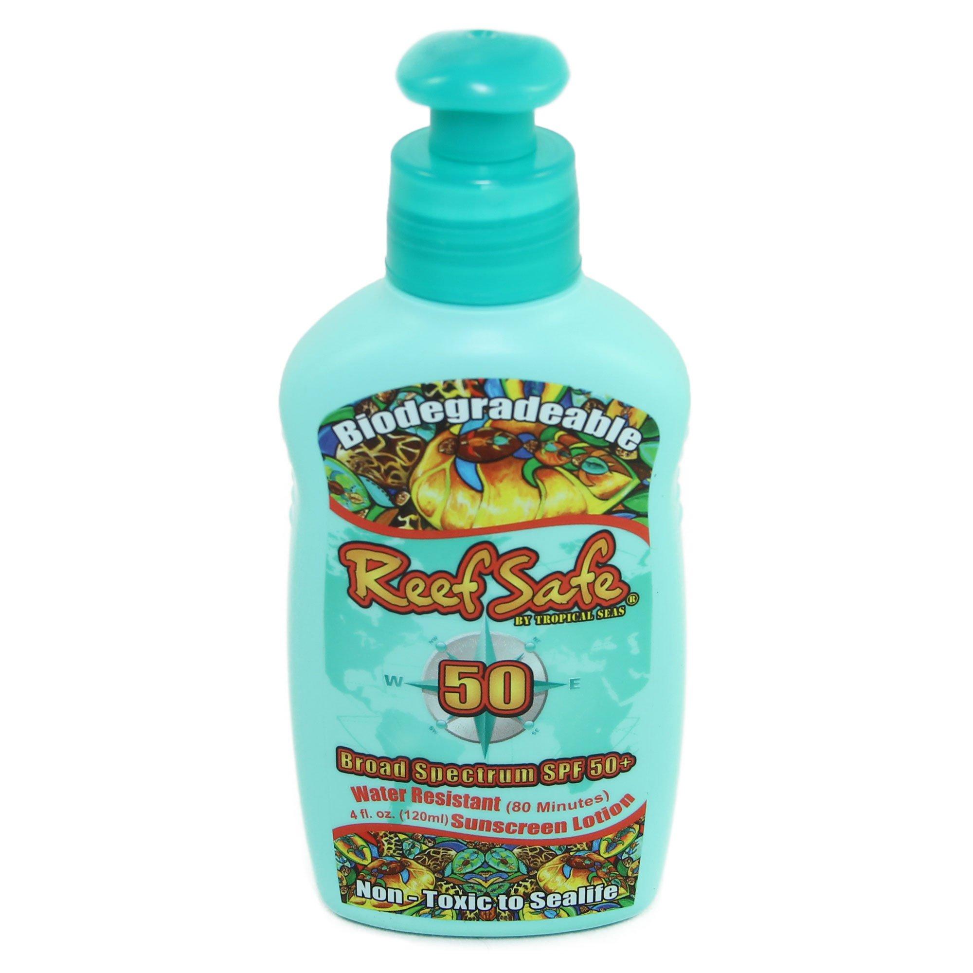 Reef Safe Biodegradable Waterproof SPF 50+ Sunscreen Lotion, 4 fl. oz