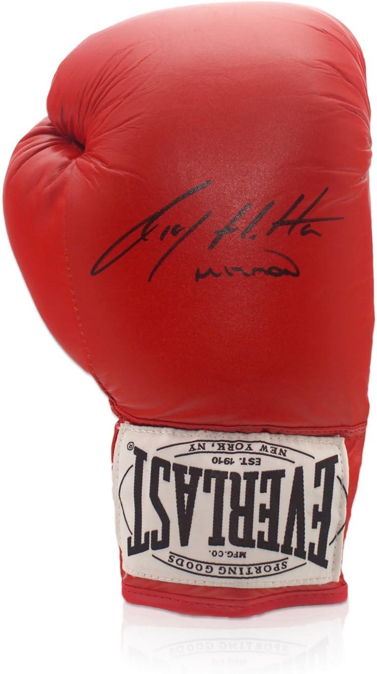 Ricky Hatton Firmado Red de guantes de boxeo Everlast En Caja de ...