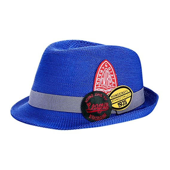 Sombrero de Bordado de Letra para Fiesta Ceremonia Bebé Gorras de Jazz  Niñas Niños Sombrero de 4cad117aad2