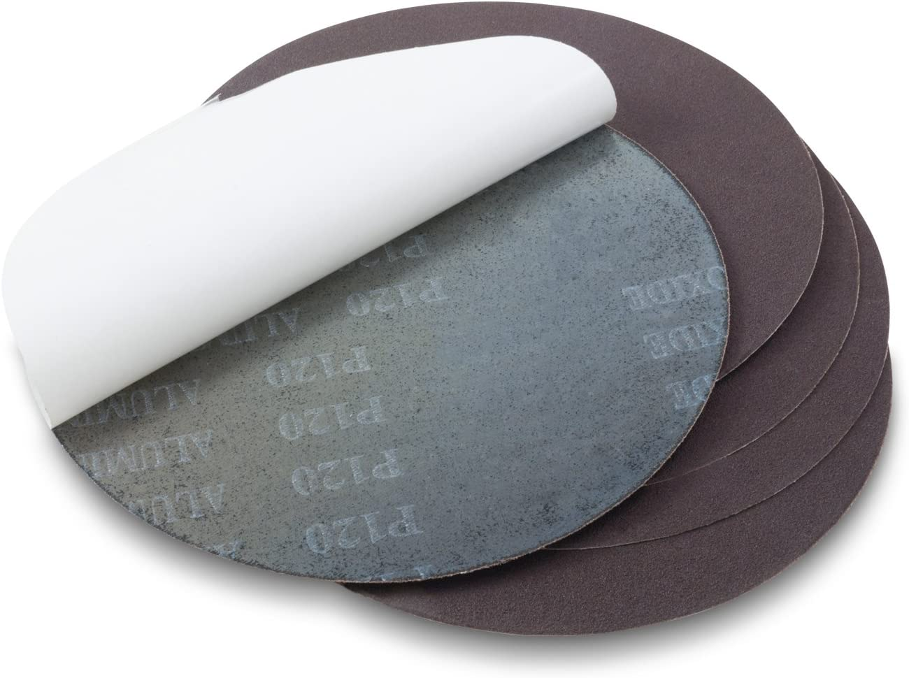 10 Inch 80 Grit Adhesive Back Aluminum Oxide metal Sanding Discs 5 Pack