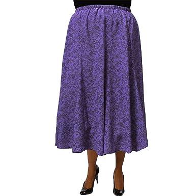 e0f3ce41141 Mila Purple 8-Gore Plus Size Skirt at Amazon Women s Clothing store