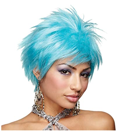 Sexy adult blue Wig
