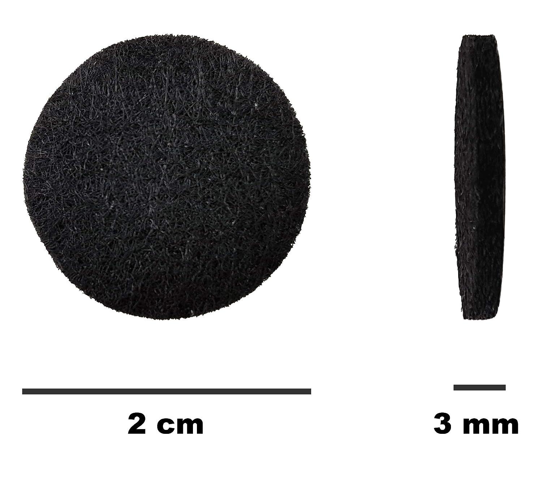 Feltrini 20 mm Assortimento autoadesivo nero per mobili sedia di protezione pavimento antigraffio Set Rotondo feltro