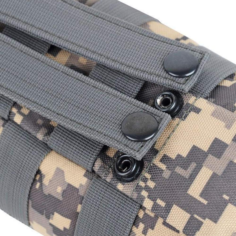 Fippy Water Bottle Carrier Molle Pouch with Extra Accessory Pouch,ACU Camouflage