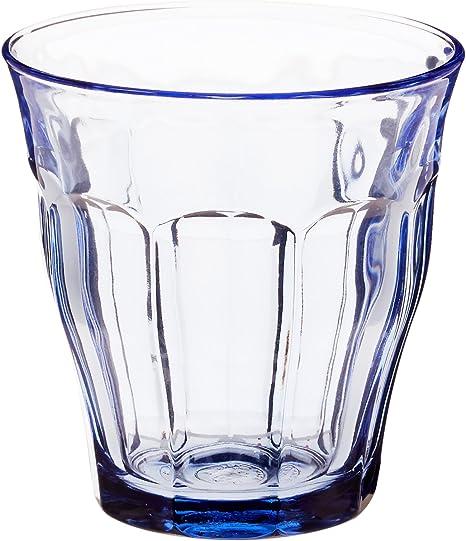 Duralex 1027BB06/6 Vasos Picardie Blue 25 cl, pack de 6, 0.25 litros, Cristal, Azul: Amazon.es: Hogar