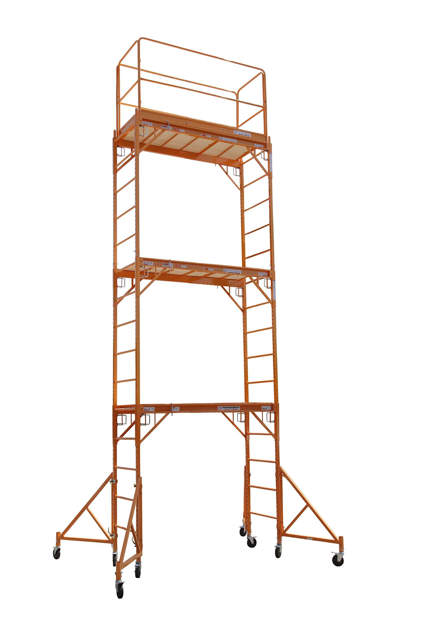 CBM Scaffold Multipurpose 18ft. Maxi Square Triple Baker-Style Scaffold Tower Package - 1,000-Lb. Capacity, Model# 3MFS