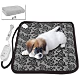 "Pet Heating Pad for New Born Puppies and Kitty or Pregnant Pets,Newroad Waterproof Warming Mat with Blanket ,Chew Resistant for Dogs and Cats ,Overheat Protection 17.7""x17.7"""
