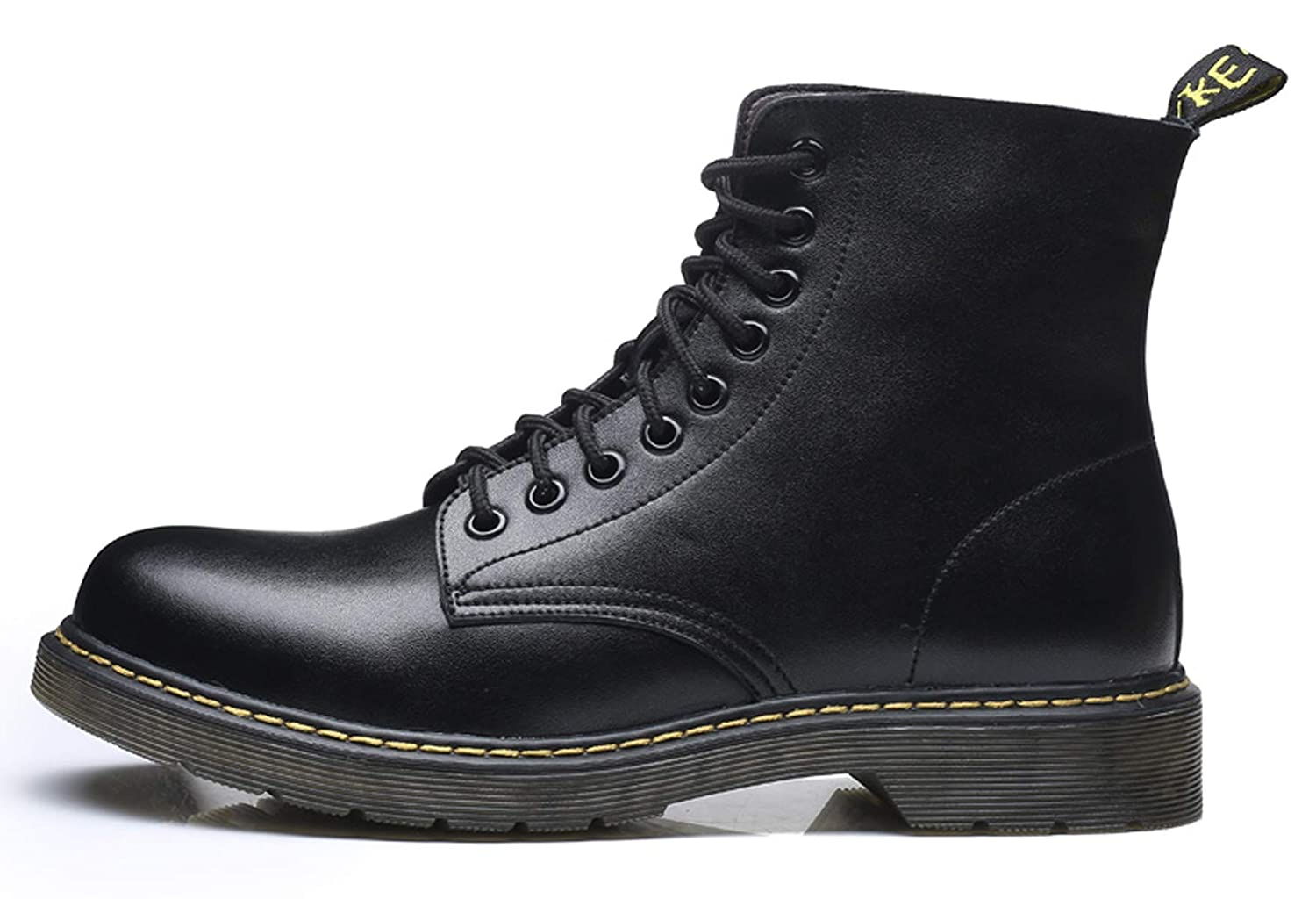 Santimon Mens Ankle Boots Snow Lace up Chukka Combat Boot Leather Casual Fashion Waterproof Outdoor Winter Shoes Bottes Neige