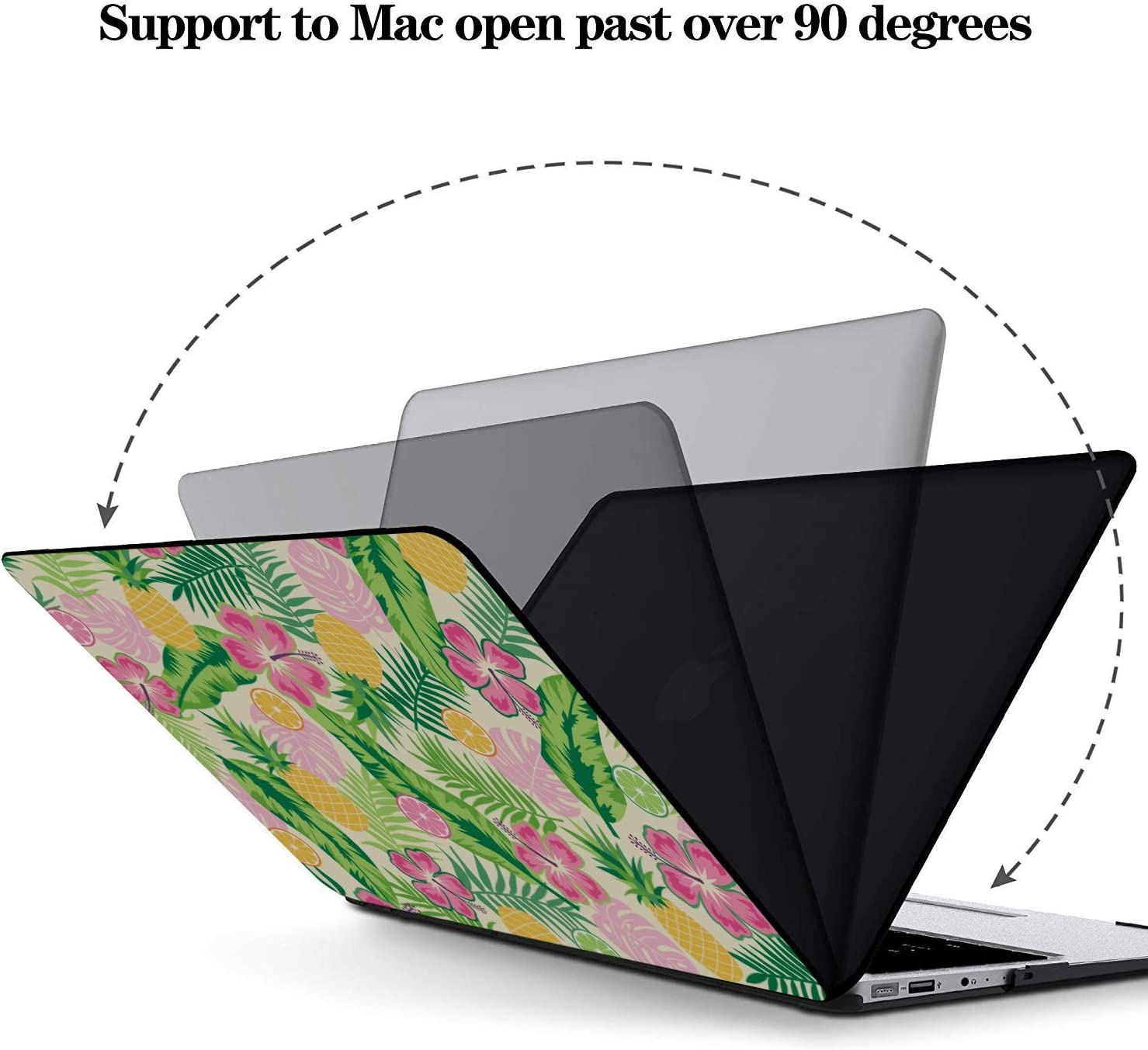 Case MacBook Air 13 Summer Fruit Grapefruit Green Leaf Plastic Hard Shell Compatible Mac Air 11 Pro 13 15 2018 MacBook Pro Accessories Protection for MacBook 2016-2019 Version