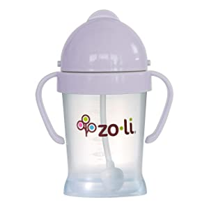 ZoLi BOT Weighted Straw Sippy Cup | Lilac, 6 oz, BPA Free, Baby's First Straw Cup – Baby Shower Gift