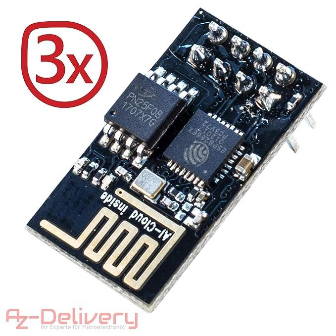 13 opinioni per AZDelivery ⭐⭐⭐⭐⭐ 3 x ESP-01 esp8266 WiFi Modulo per Arduino, Raspberry Pi e