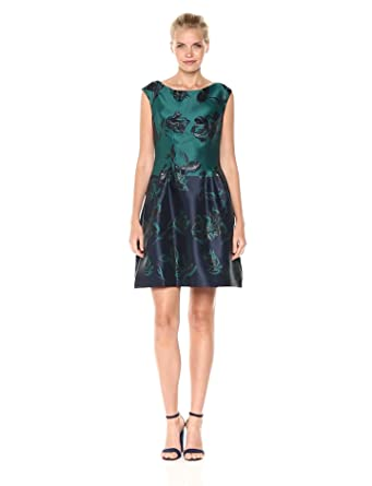 Vince Camuto Women S Fit And Flare Jacquard Dress At