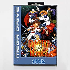 ROMGame 16 Bit Sega Md Game Cartridge With Retail Box - Gunstar Heroes Game Card For Megadrive Genesis System