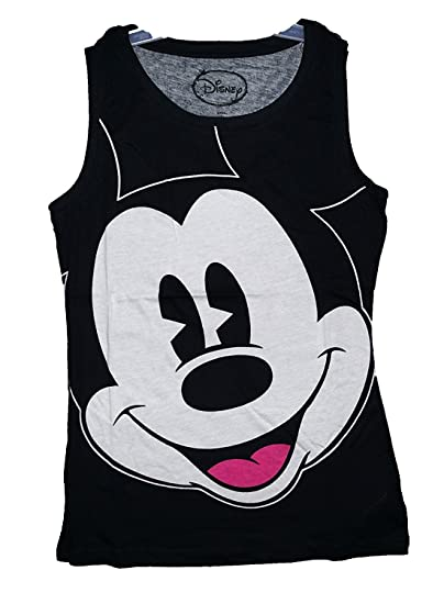 5fdab7077b4325 Image Unavailable. Image not available for. Color  Disney Mickey Mouse Big  Face Womens Pajama T Shirt Tank Top ...