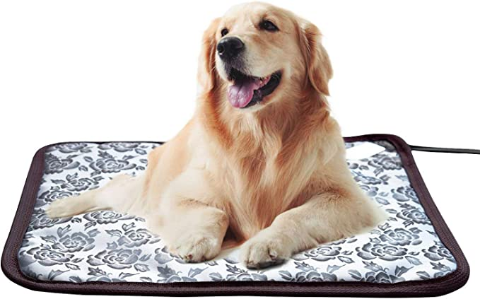 Amazon.com : Whitney Pet Heating Pad Cat Heating Mat Waterproof Pets Heated Bed Adjustable Dog Bed Warmer Electric Heating Mat with Chew Resistant Steel Cord (17.7x17.7, Flower) : Pet Supplies
