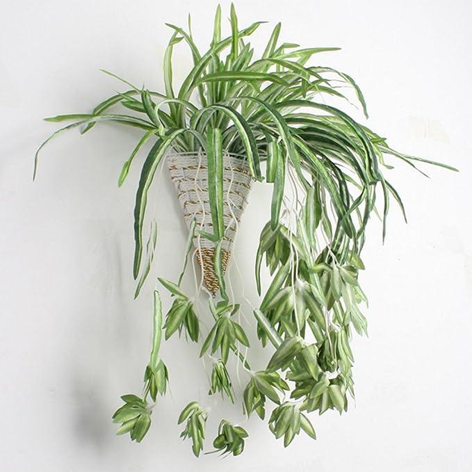 Artificial Plant Spider Orchid Flower Air Grass Silkworm Wall Hanging Decor SH