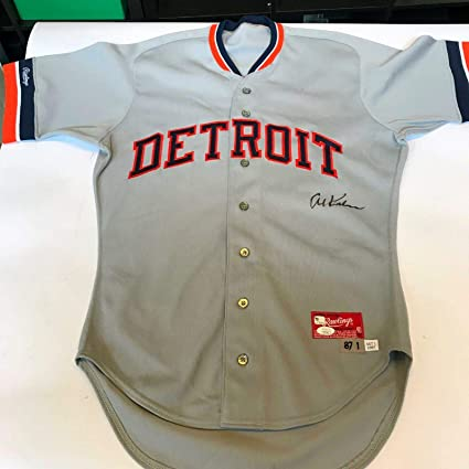 new style 24db0 3eaa0 Rare Al Kaline Signed 1987 Game Issued Detroit Tigers Jersey ...