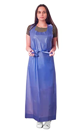 12 Pack Blue Die Cut Vinyl Aprons 35 X 48 Thickness 6 Mil Disposable Aprons For Meat Processing Food Handling Unisex Workwear Protective Uniform Aprons For Men Women Die Cut Ties Amazon Com