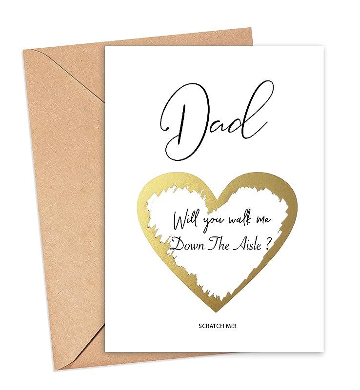 Dad /& Daughter Wedding Card Wedding Proposal Card Step Dad Wedding Card Will You Walk Me Down the Aisle Dad Wedding Card Daddy Wedding