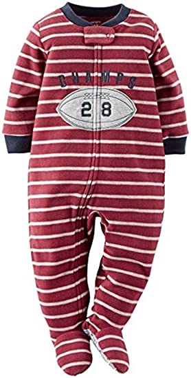 49ac80103372 Amazon.com  Carter s Boy s Size 5T Football Champ Fleece Footed ...