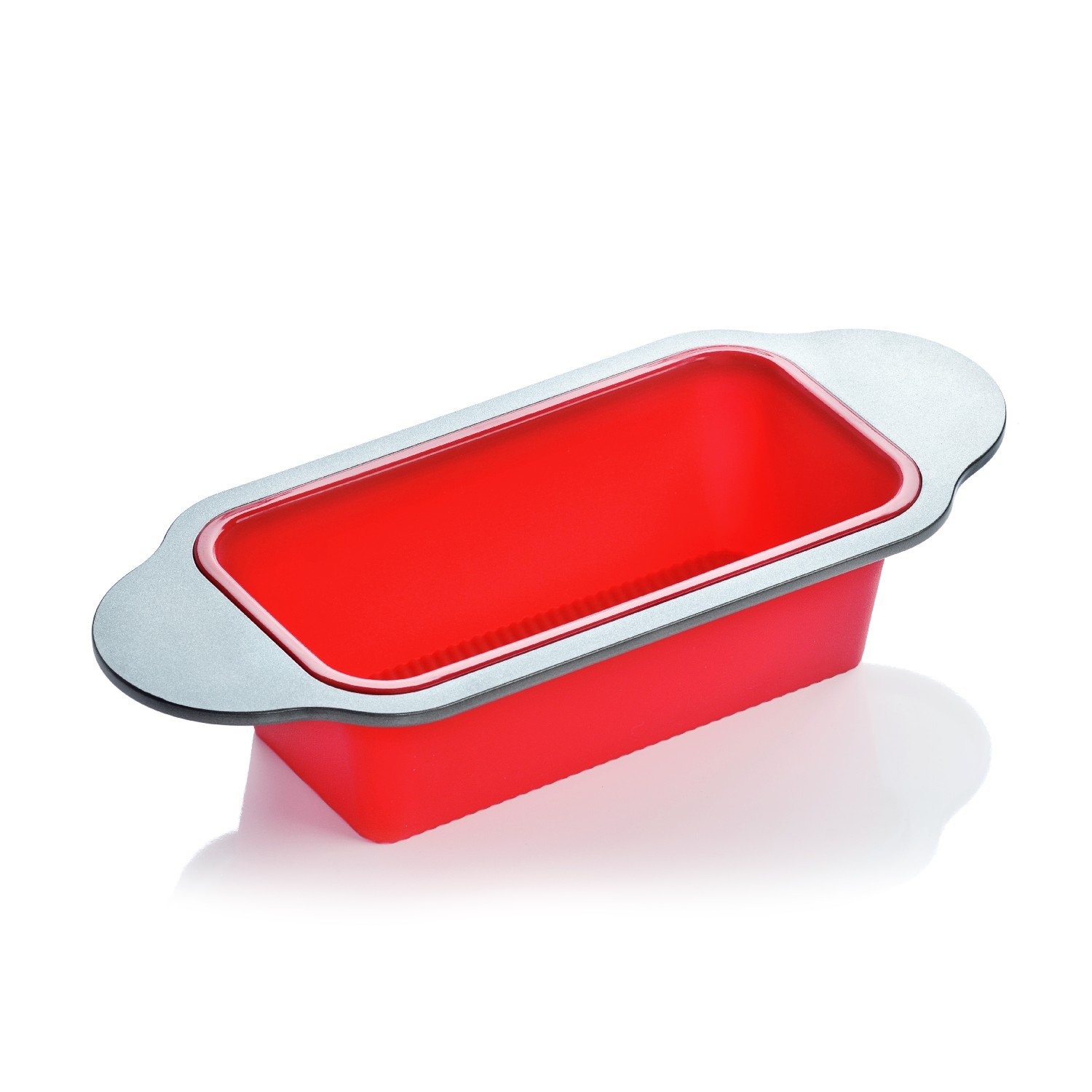 Meatloaf and Bread Pan | Gourmet Non-Stick Silicone Loaf Pan by Boxiki Kitchen | for Baking Banana Bread, Meat Loaf, Pound Cake | 8.5'' FDA-Approved BPA-free Silicone, Steel Frame + Handles