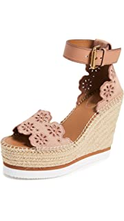 2d5be0fdfcbc Amazon.com  See by Chloe Women s Glyn Wedge Floral Espadrille Sandal ...