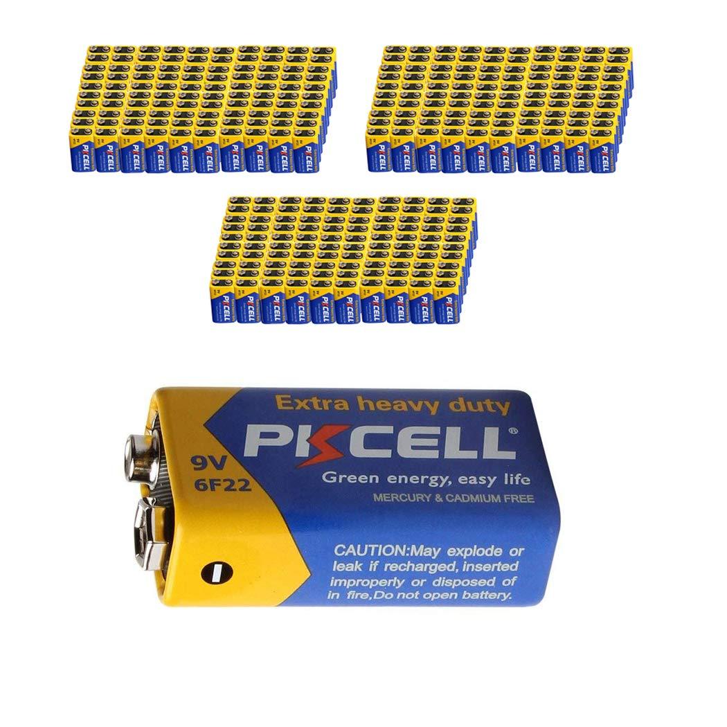 9V 6F22 Mn1604 Batteries Super Heavy Duty Carbon-Zinc Battery Count Pcs (300)
