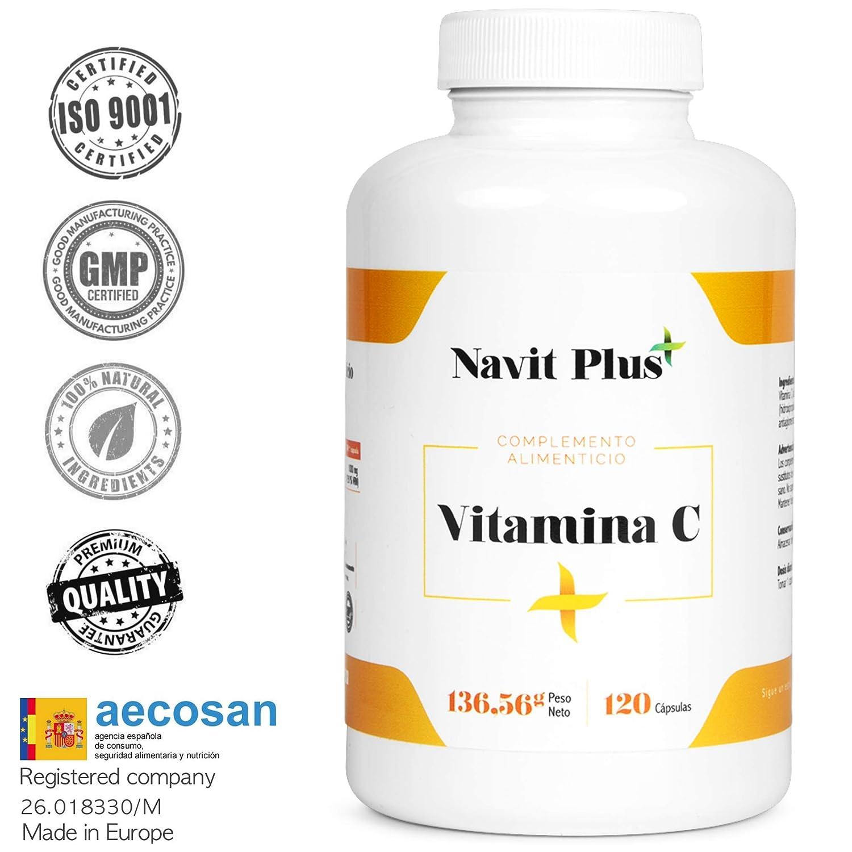 Vitamina C 1000 mg NAVIT PLUS. Suplemento nº1 en Vitamina C pura. Desarrollado y fabricado en España. Refuerza de manera natural tus defensas, ...