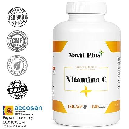 Vitamina C 1000 mg NAVIT PLUS. Suplemento nº1 en Vitamina C pura. Desarrollado y