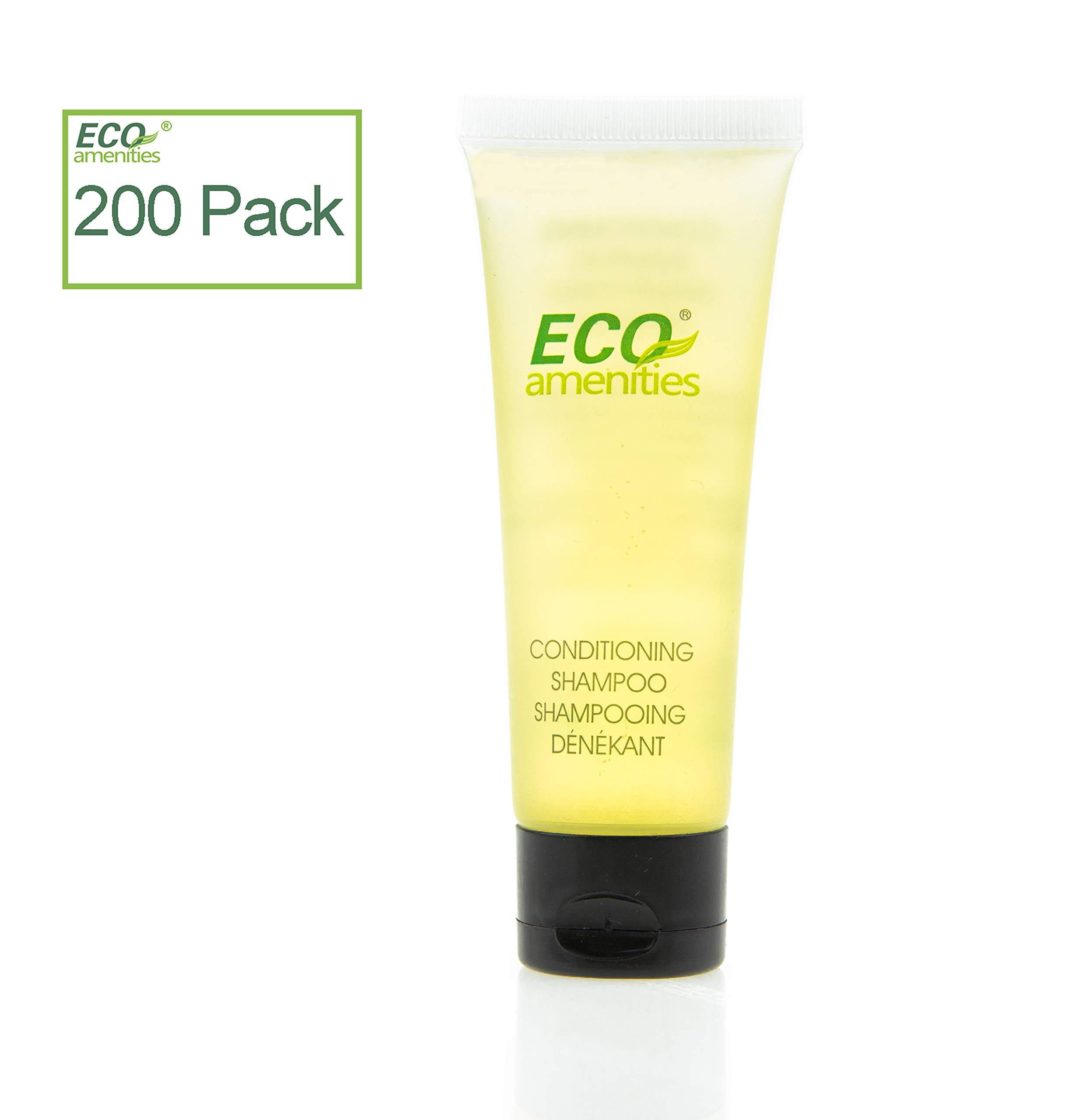 ECO AMENITIES Travel size 1.1oz hotel shampoo and conditioner in bulk, Clear, Green Tea, 200 Count