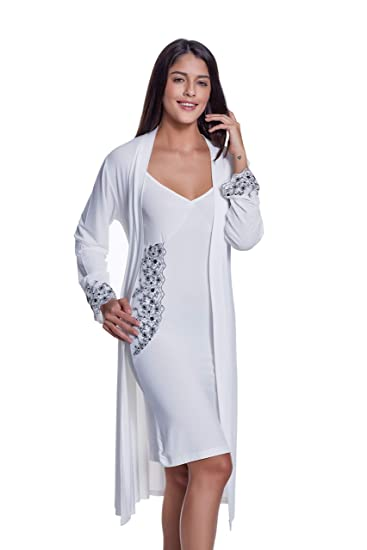 Luisa Moretti Damenpyjama aus Bambusfaser Bamboo