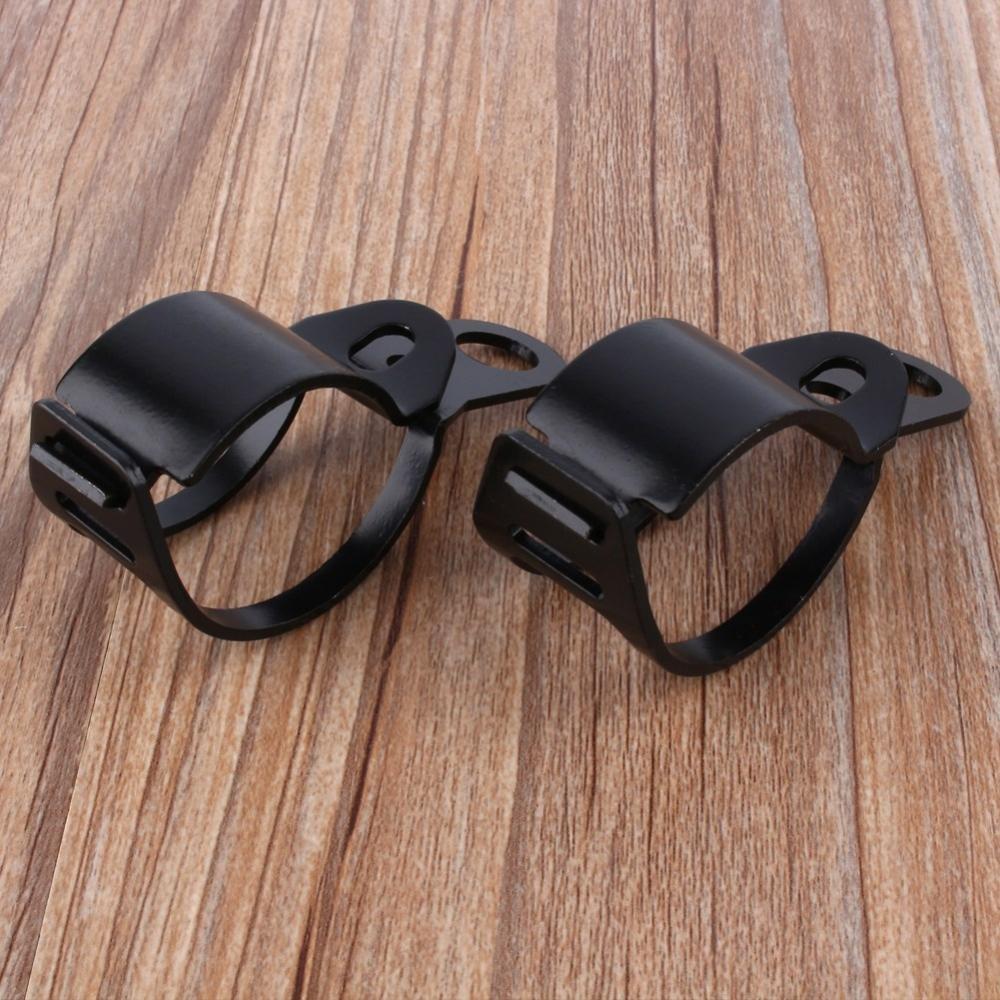 Keenso Support de Fixation de Fourche 30-45mm Universel Par Serrage Support de Fourche en M/étal Noir 2 pcs Support de Montage de Clignotants