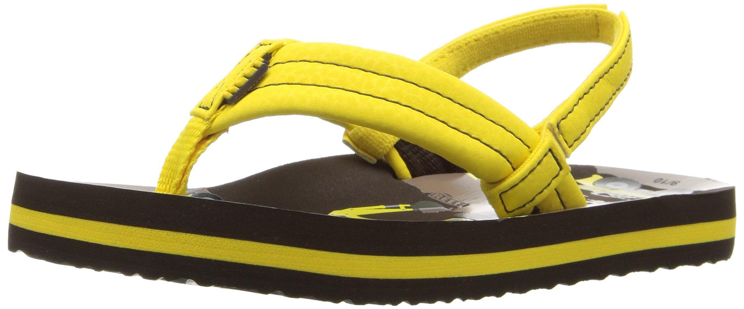 Reef Boys' Ahi Sandal, Yellow Trucks, 6-7 M US Big Kid