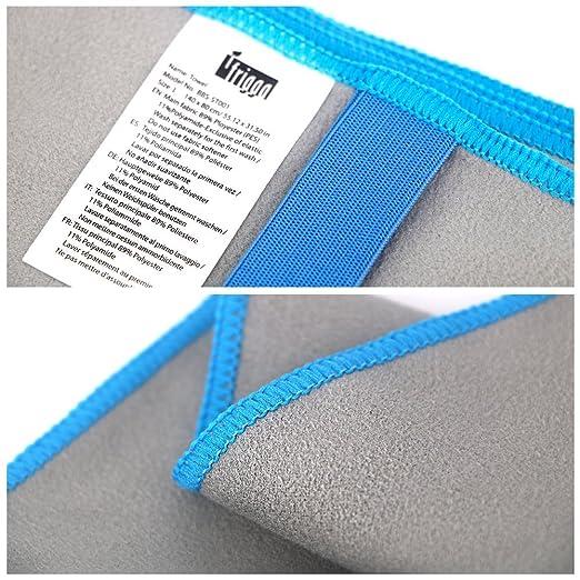Toalla de microfibra, Large140 x 80 cm, Toalla de gimnasio, Compacto, liviano y secado rápido utilizado para Fitness Playa Natación Deportes Viajes ...