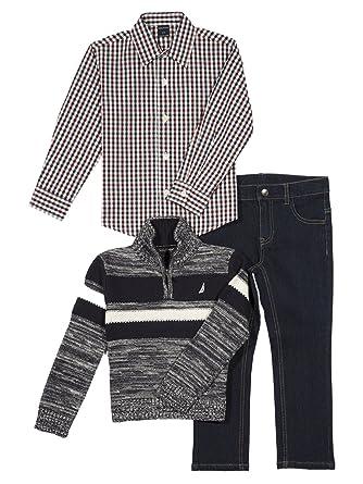 Amazon.com  Nautica Three Piece Set with Woven Shirt 2d1afa97f